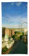 Elevated View Of Saint Louis Historical Hand Towel
