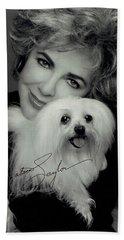 Elizabeth Taylor And Friend Hand Towel by Studio Photo