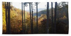 Hand Towel featuring the painting Ellijay Color by Jan Dappen