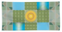 Hand Towel featuring the digital art Ellipse Quilt 1 by Kevin McLaughlin