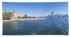 Ellis Island, Manhattan Skyline, New Hand Towel
