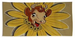 Elsie The Borden Cow  Bath Towel by Chris Berry