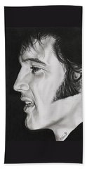 Elvis Presley  The King Hand Towel by Fred Larucci