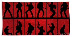 Elvis Silhouettes Comeback Special 1968 Hand Towel