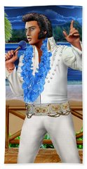 Elvis The Legend Bath Towel by Glenn Holbrook