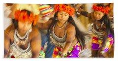 Embera Villagers In Panama Hand Towel