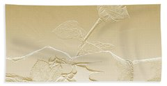 Embossed Gold Rose By Jan Marvin Studios Bath Towel