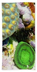 Bath Towel featuring the photograph Emerald Artichoke Coral by Amy McDaniel