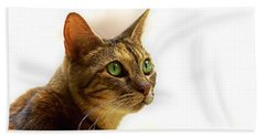 Hand Towel featuring the photograph Emerald Eyes by Olga Hamilton