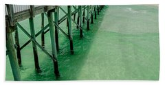 Bath Towel featuring the photograph Emerald Green Tide  by Susan  McMenamin