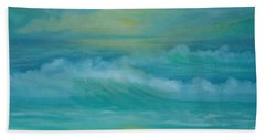 Emerald Waves Hand Towel