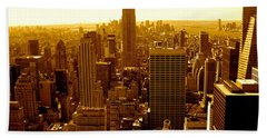 Manhattan And Empire State Building Hand Towel