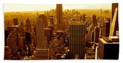Manhattan And Empire State Building Bath Towel