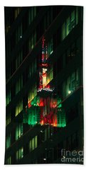 Empire State Building Reflection Hand Towel