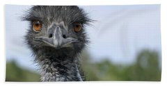 Hand Towel featuring the photograph Emu Gaze by Belinda Greb
