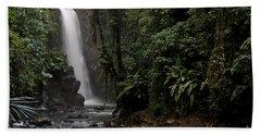 Encantada Waterfall Costa Rica Hand Towel