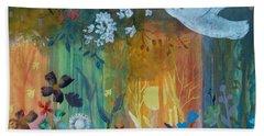 Bath Towel featuring the painting Encantador by Robin Maria Pedrero