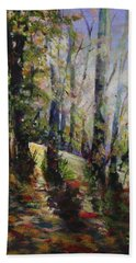 Enchanted Forest Bath Towel by Sher Nasser