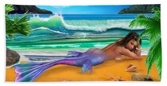 Enchanted Mermaid Hand Towel by Glenn Holbrook