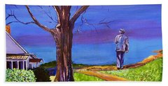 End Of Day Highway 98 Hand Towel by Ecinja Art Works