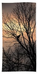 End Of The Day  Red Tailed Hawk Bath Towel