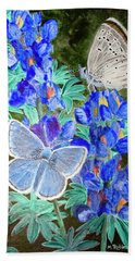 Endangered Mission Blue Butterfly Bath Towel