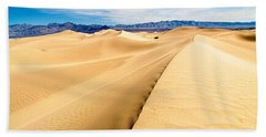 Endless Dunes - Panoramic View Of Sand Dunes In Death Valley National Park Hand Towel