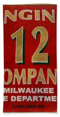 Engine 12 Hand Towel by Susan  McMenamin