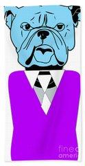 English Bulldog Painting Hand Towel