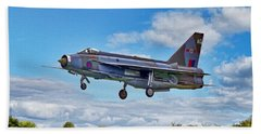 Bath Towel featuring the photograph English Electric Lightning by Paul Gulliver