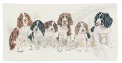 English Springer Spaniel Puppies Bath Towel