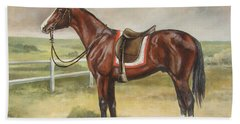 English Stallion Dark Bay Bath Towel