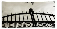 Hand Towel featuring the photograph Entrances To Exits - Gates by Steven Milner