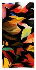 Bath Towel featuring the digital art Entropic Dance Of The Salamander First Snow.  by David Lane