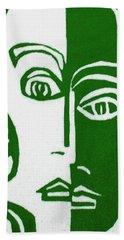Bath Towel featuring the painting Envy by Donna Tucker