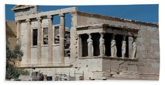 Erechtheion With The Porch Of Maidens Hand Towel