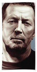 Eric Clapton Artwork Hand Towel by Sheraz A