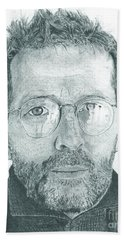 Eric Clapton Hand Towel by Jeff Ridlen