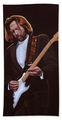 Eric Clapton Painting Hand Towel by Paul Meijering