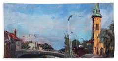 Erie Canal In Lockport Bath Towel