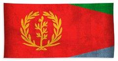 Eritrea Flag Vintage Distressed Finish Bath Towel