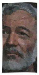 Ernest Hemingway Portrait Bath Towel