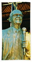 Ernie Harwell Statue At The Copa Bath Towel