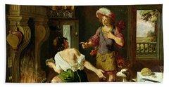 Esau Selling His Birthright To Jacob Bath Towel