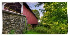 Hand Towel featuring the photograph Eshelman's Mill Covered Bridge by Jim Thompson