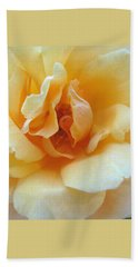Lightness Of Being - Yellow Rose Macro -floral Art From The Garden Bath Towel
