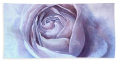 Hand Towel featuring the painting Ethereal Rose by Sandra Phryce-Jones