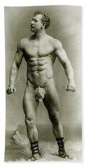 Eugen Sandow In Classical Ancient Greco Roman Pose Hand Towel