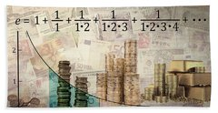 Euler's Number And Equation - Compound Interest Hand Towel