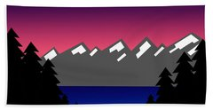 Evening At The Lake Hand Towel